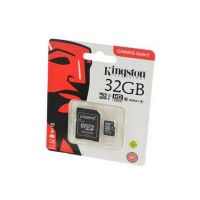KINGSTON CANVAS Select microSD 32GB (Class 10) UHS-I с адаптером BL1 Носитель информации