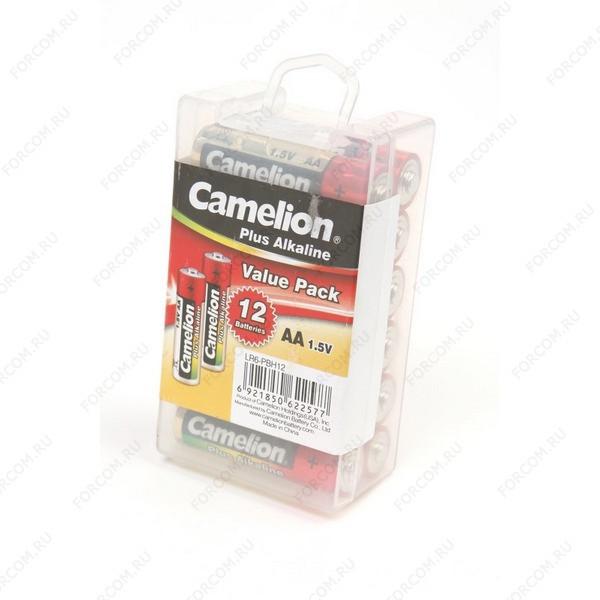 Camelion Plus Alkaline LR6-PBH12 LR6 в пласт. боксе 12 шт Элемент питания