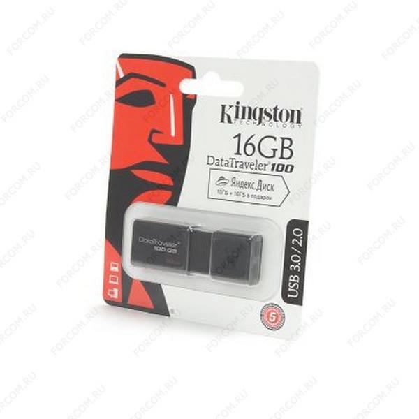 USB Flash Drive 16 Gb Kingston DataTraveler 100 G3 DT100G3/16Gb черная