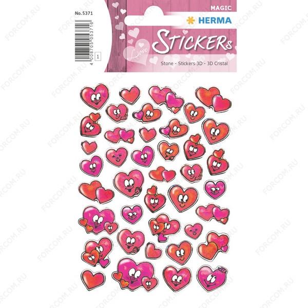HERMA 5371 Magic Наклейки Красные сердечки