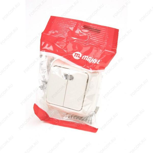 MAKEL 2 кл с подс. 45223 Кремовый BL1 Выключатель