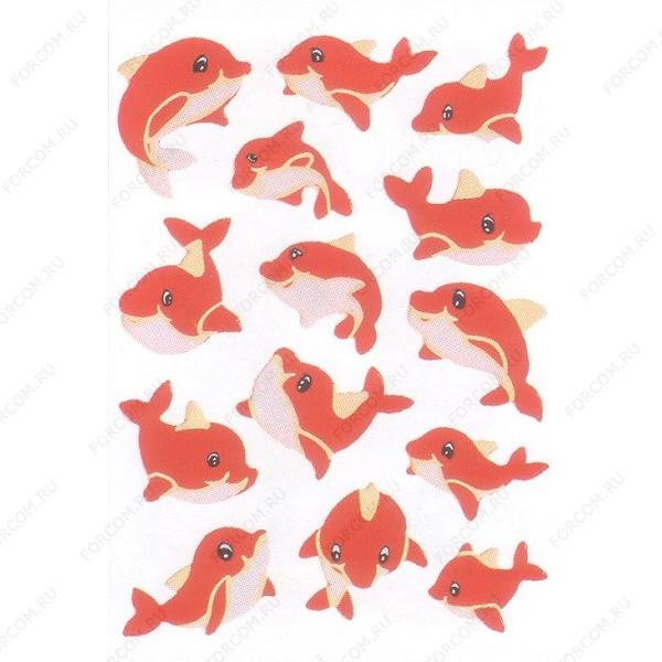HERMA 6039 Magic Наклейки Красный дельфин (неон)