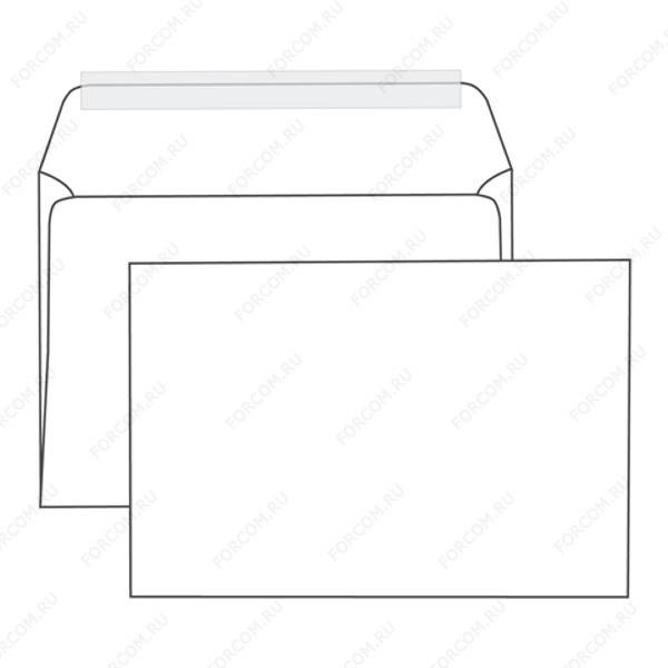 Конверт С5 стрип 162х229мм, 90г, белый, без марки 1 шт.