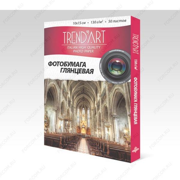 TrendArt H130_10X15_50 Фотобумага TrendArt High Glossy Inkjet 10x15см, 130г, 50 листов, покрытие Cast Coated