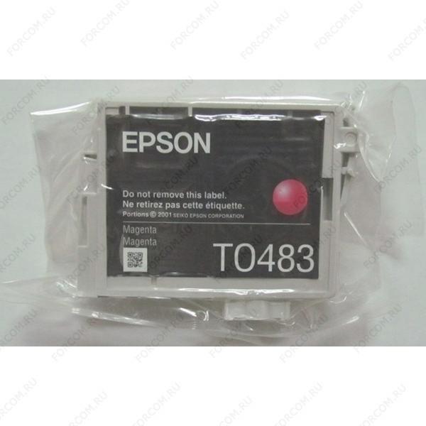 Epson C13T04834010CIV Картридж в технической упаковке пурпурный T0483 Epson R200/R220/R300/R320/R340/RX500/RX600/RX620