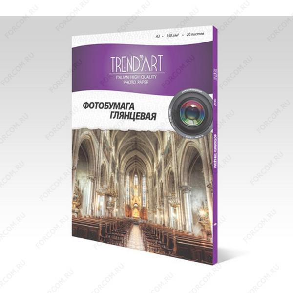 TrendArt H150_A3_20 Фотобумага TrendArt High Glossy Inkjet А3, 150г, 20 листов, покрытие Cast Coated
